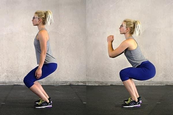 تمرین اسکات برای درد پایین کمر