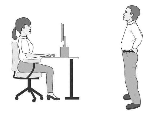 حفظ وضعیت صحیح بدنی جهت پیشگیری از کمردرد